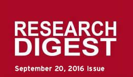 Research Digest September 20, 2016 Issue